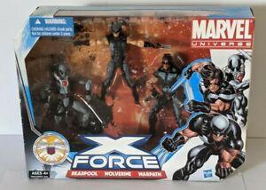 2010 Marvel Universe X-Force Deadpool Wolverine Warpath 3.75 Figures 3 Pack Set*