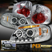 01-03 Ford F150 King Ranch Lightning Halo Projector LED Headlights + Tail Light