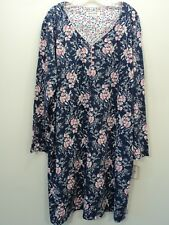 KAREN NEUBURGER Nightgown MEDIUM Blue Pink Floral L/S Cotton Blend NEW WITH TAG