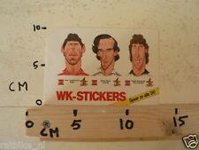 STICKER,DECAL RENE VANDEREYCKEN, MICHEL PLATINI,HAROLD SCHUMACHER FOOTBALL,SOCCE