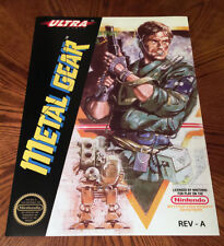 "METAL GEAR NES box art retro video game 24"" poster print nintendo Solid Snake"