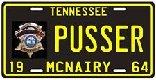 Buford Pusser Walking Tall Tennessee 1964 License plate