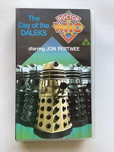 Doctor Who Day of the Daleks  (VHS 1986 Black Label) - John Pertwee
