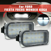 18 LED Licence Number Plate Light Fit For Ford Fiesta Focus C-Max Kuga Mondeo UK