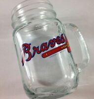 Atlanta Braves Glass Mug VTG 1991 Worst To First MLB Baseball Mason Jar Drink
