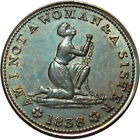 1838 Anti Slavery Hard Times Token Woman In Chains HT-81 PCGS