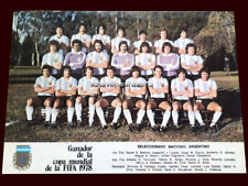 FIFA WORLD CUP ARGENTINA 1978 - ARGENTINA TEAM - Soccer Card