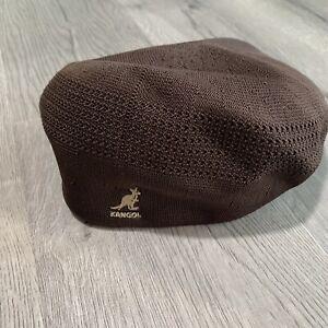 KANGOL TROPIC 504 VENTAIR BROWN WOVEN NEWSBOY DRIVERS CABBIE CAP HAT NEW