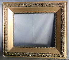 MASSIVE 1890 Gilt Gesso Wood Hudson River Painting Picture Frame 16x20 BOLD DEEP