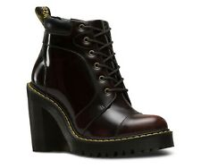 Dr. Martens Women's Cherry Red Averil Heeled Lace-up Boots. Size UK 5, UK 7