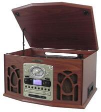 PTCDS7UIW Retro Turntable& CD/MP3/Casette/Radio/USB/SD Aux/Vinyl-to-MP3 Encoding