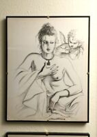 ANTONIO LOPEZ A ORIGINAL LITHOGRAPH FROM 1979 COTY AWARD FRAMED & SIGNED