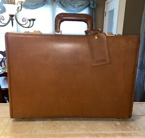 Vintage Coach British Tan & Suede Hard Sided Briefcase-Rare!