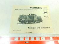 BH820-0,1# Märklin H0 Anweisung für Diesellok 3072 von 1967