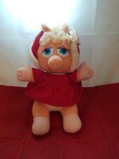 Jim Henson Baby Miss Piggy Christmas Carol Plush Toy Pig 1987