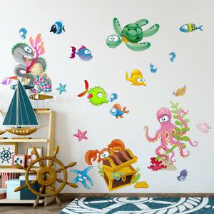 R00435 Wall Stickers Adesivi Murali Camerette animali mare