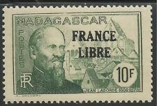 "MADAGASCAR 1943 YT 254** - SURCHARGE ""FRANCE LIBRE"""