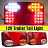 Pair 12V LED Rear Tail Light Indicator Lamp Recovery Trailer Truck Lorry Pickup