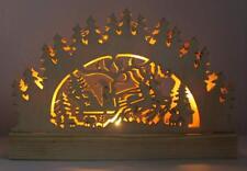 Weihnachtsdeko LED Fensterdeko Weihnachten Schwibbogen Lichterbogen Schwippbogen