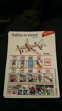 Air Malta A320 Safety Card