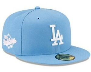 Los Angeles Dodgers New Era 59FIFTY 1988 MLB World Series Blue Pink Fitted Hat