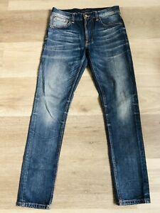 Nudie Slim Blue Jeans - Lean Dean 'Lost Legend'  - W30 X L32