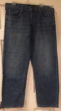 Calvin Klein Jeans hombre Relajado Recto Vaqueros 100% Algodón Azul 36 TIRO