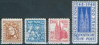 Alliierte Besetzung Mi.-Nr.69-72** 700 Jahre Grundsteinlegung Kölner Dom