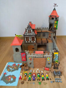 Playmobil große Ritterburg 3666 mit Fachwerk + Anleitung Mittelalter TOP Zustand