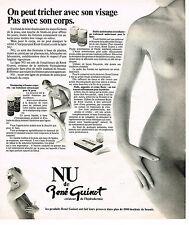 PUBLICITE ADVERTISING 084  1977   RENE GUINOT  cosmétiques NU