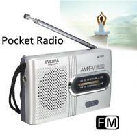 Mini Portable Pocket AM/FM Telescopic Antenna Battery Powered Radio Receiver MT