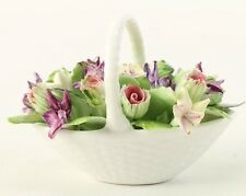 Royal Adderley Floral Bone China Made In England Basket With Flowers