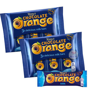 2 X TERRY'S CHOCOLATE ORANGE MILK CHOCOLATE BARS 3 PACK - FRESH STOCK