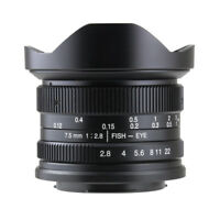 7artisans 7.5mm F2.8 Manual Fisheye Wide Lens Fuji X x-pro2 x-T20 x-H1