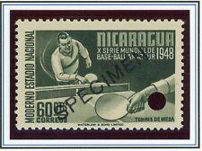 Nicaragua WATERLOW Sports SPECIMEN Scott #727 60c TABLE TENNIS PING PONG $$$