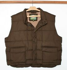 CABELA'S Premier Northern Goose Down Fleece Lined Brown Vest Men's Sz. 3XL