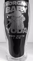 Personalised Star Wars Style Baby Yoda Beer Pint Glass Perfect Birthday Gift