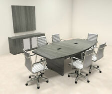 Modern Contemporary Boat Shape 8' Feet Conference Table, #RO-ABD-C17