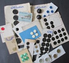 Vintage Lot French Buttons On Cards Partial Cards French Flea Market Find