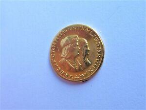 ESPAGNE FERDINAND ET ISABELLE MINI MONNAIE OR PIECE JETON GOLD COIN 2,40 Grs