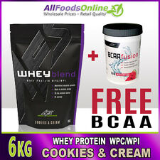 WHEY PROTEIN POWDER - WPC / WPI - WHEY BLEND - COOKIES & CREAM - 6KG
