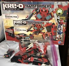 TRANSFORMERS KRE-O SENTINEL PRIME 30687 4 KREONS For Parts Only Not Complete