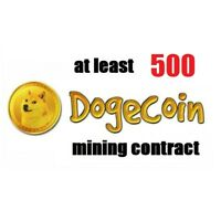 at least 500 Dogecoins 3 hours Dogecoin (DOGE) Cryptocurrency mining contract