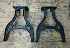 Cast iron pear shaped machine legs for dining / kitchen vintage industrial table