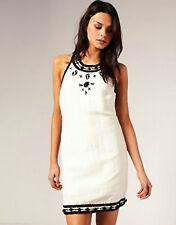 Cotton Blend Halterneck Party Floral Dresses for Women