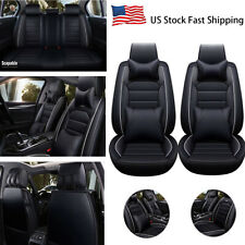 Universal Car Seat Cover Full Set Luxury 13 Pcs Leather Cushion 4 Pillows
