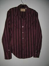 "Scully Pearl Snap Heavy Western Long Sleeve Shirt - Womens S (40"" chest)"