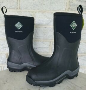 Muck Mens Arctic Sport Mid Outdoor Waterproof Work Boots Size 9 Black ASM-000A