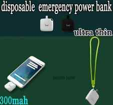 Portable One Time Use 300mAh Emergency Power Bank
