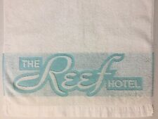 Vintage 50s The Reef Hotel Towel Waikiki Hawaii Beach Chaise Lounge Pool Chair